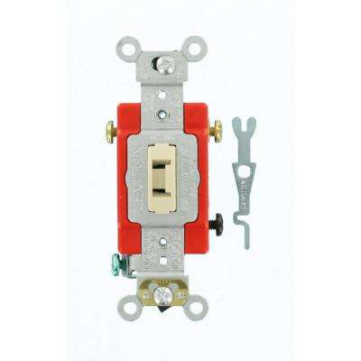 20 Amp Industrial Grade Heavy Duty 3-Way Locking Switch, Ivory