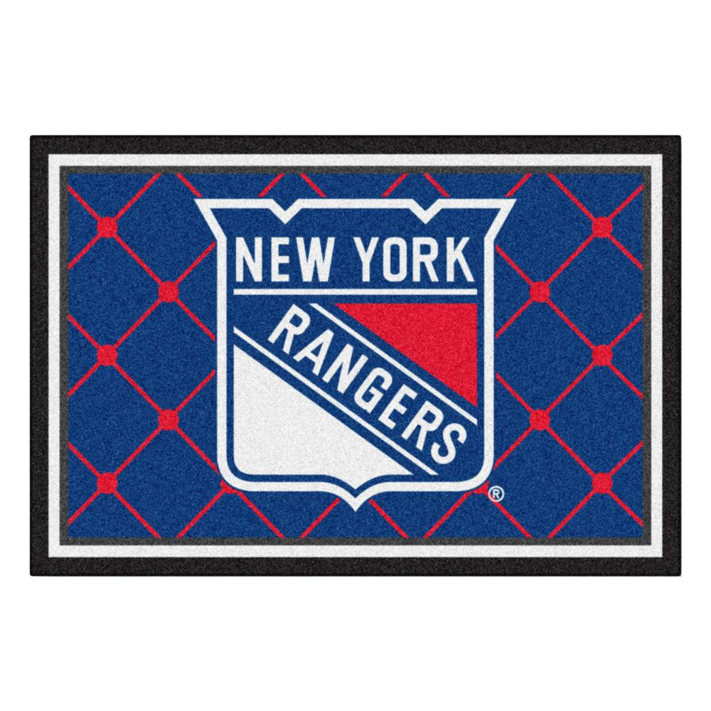 d86a7364fcc FANMATS New York Rangers 5 ft. x 8 ft. Area Rug-10478 - The Home Depot