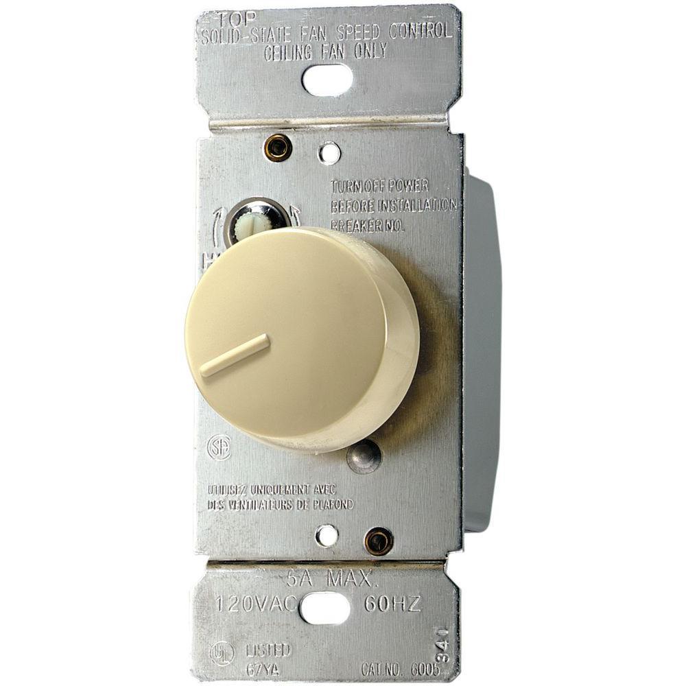 react ivory 300-watt 5 amp fully variable fan switch