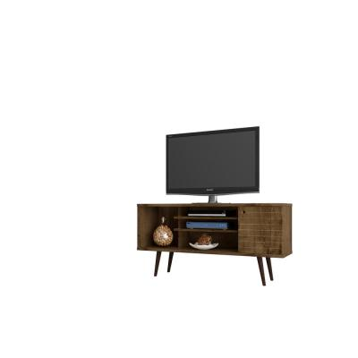 Liberty 53 in. Rustic Brown Composite TV Stand Fits TVs Up to 50 in. with Storage Doors