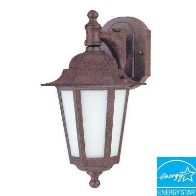 1-Light Outdoor Old Bronze Wall-Mount Lantern