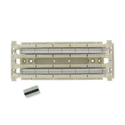 Cat 5e 110-Style Wiring Block Kit, Wall Mount with Legs, C-5 Connector Clips, Ivory (100-Pair)