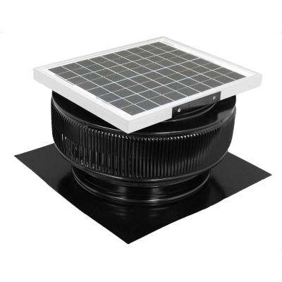 1007 CFM Black Powder Coated 15-Watt Solar Powered 14 in. Dia. Roof Mounted Attic Exhaust Fan
