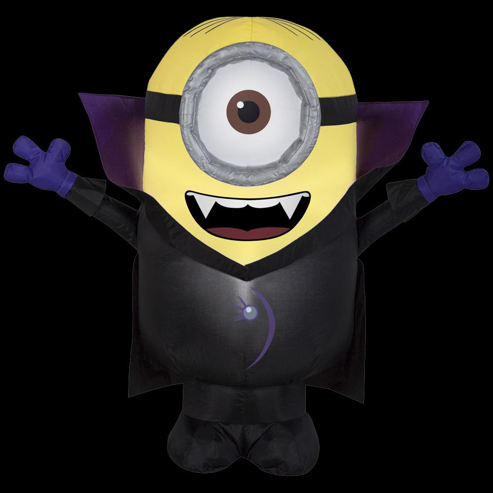 yard decor airblown 3 ft w x 3 ft h inflatable gone batty minion
