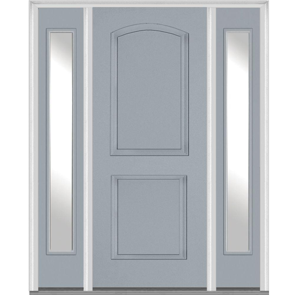 MMI Door 68.5 In. X 81.75 In. Right Hand Clear 2 Panel