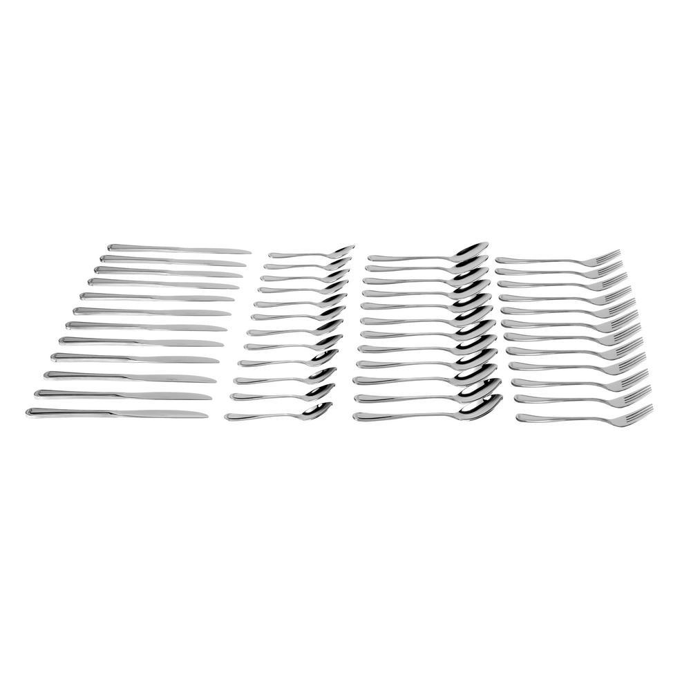 Cordoba 48-Pieces Stainless Steel Flatware Set