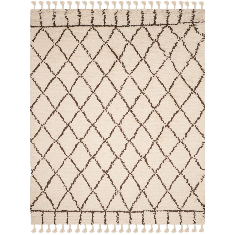 Casablanca Ivory/Brown 8 ft. x 10 ft. Area Rug