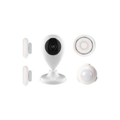 Wireless Wi-Fi Video Kit Home Alarm Security System Works with Alexa, Google Assistant, IFTTT