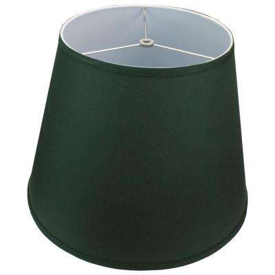 11 in. Top Diameter x 17 in. Bottom Diameter x 13 in. Slant Linen Hunter Green Empire Lamp Shade