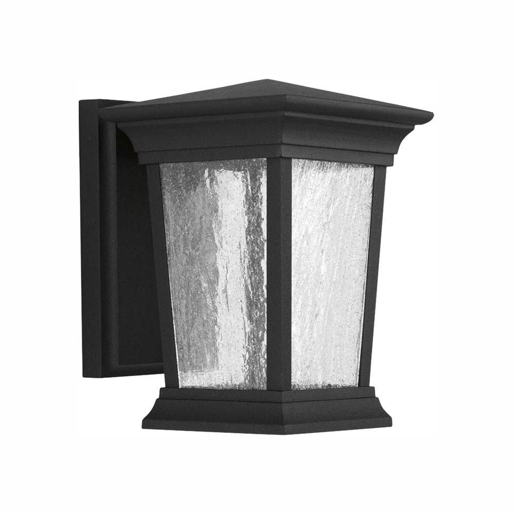 Progress Lighting Arrive Collection 1-Light 8.75 in. Outdoor Black LED Wall Lantern Sconce
