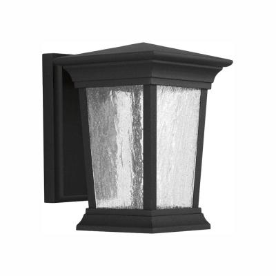 Arrive Collection 1-Light 8.75 in. Outdoor Black LED Wall Lantern Sconce