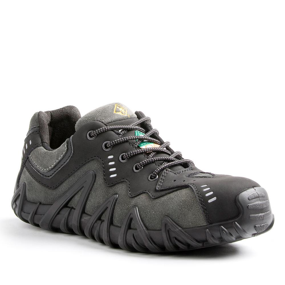 9e16f7a09ae5 Spider Men s Size 10 Black Grey Leather and Suede Composite Toe Safety Shoe.  Write a review
