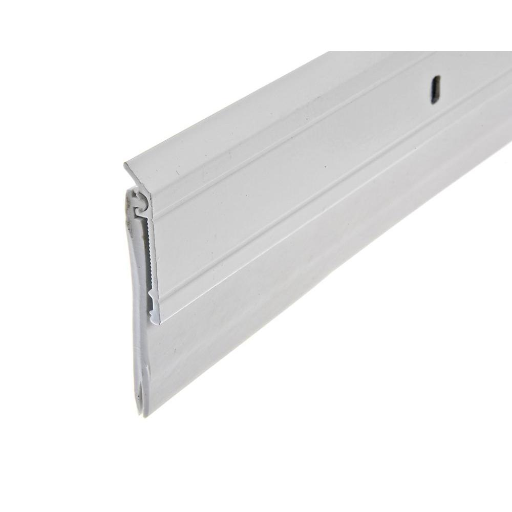 Frost King E O 2 In X 36 In White Heavy Duty Aluminum And Vinyl Door Sweep A62 36wh The Home