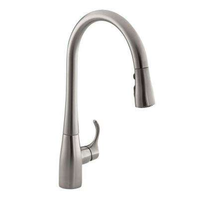 Simplice Single-Handle Pull-Down Sprayer Kitchen Faucet with DockNetik and Sweep Spray in Vibrant Stainless