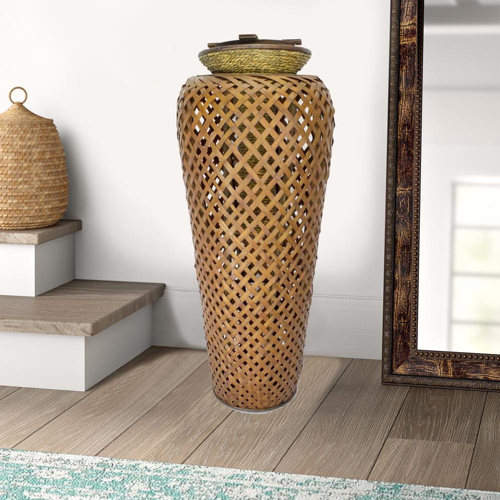 Shelly Bronze/Yellow Bamboo Decorative Vase