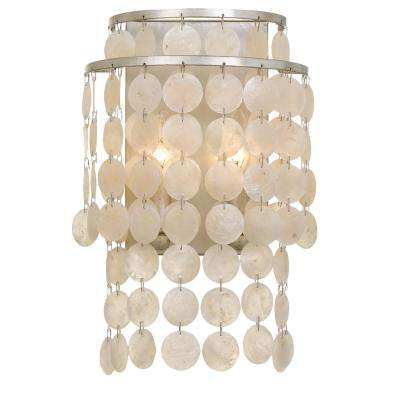 Brielle 2-Light Antique Silver Sconce