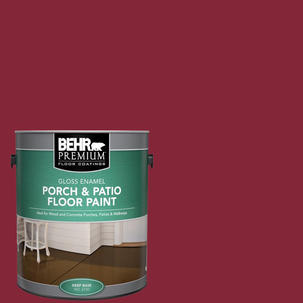 BEHR Premium 1 gal. #M140-7 Dark Crimson Gloss Enamel Interior/Exterior Porch and Patio Floor Paint