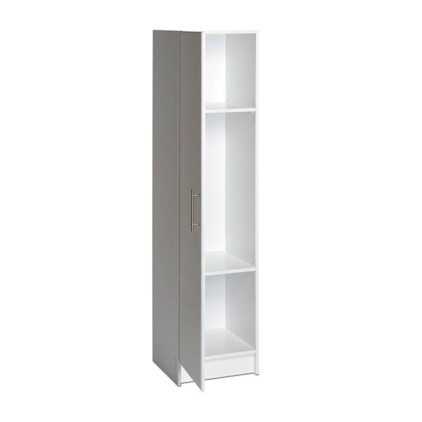 D Laminate Wood Narrow Cabinet In White