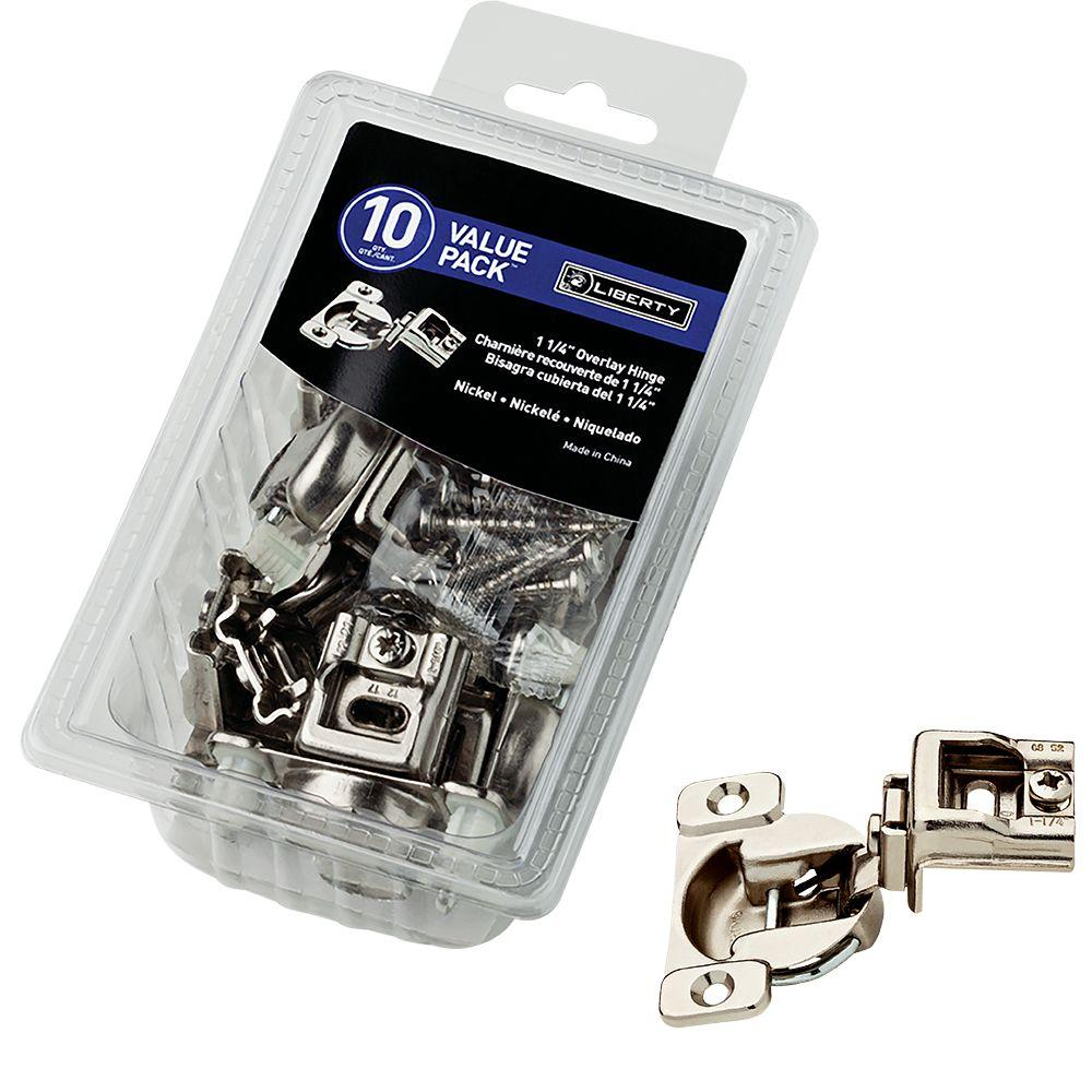 Liberty 35 mm 105-Degree 1-1/4 in. Overlay Hinge (10-Pack)