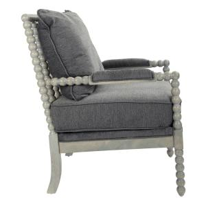 Incredible Osp Home Furnishings Abbot Charcoal Fabric Chair With Spiritservingveterans Wood Chair Design Ideas Spiritservingveteransorg