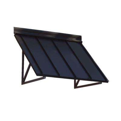 8.6 ft. Houstonian Metal Standing Seam Awning (104 in. W x 24 in. H x 24 in. D) in Black