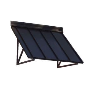 8.6 ft. Houstonian Metal Standing Seam Awning (104 in. W x 24 in. H x 36 in. D) in Black