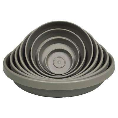 Terra Plant Saucer Tray 13 in Peppercorn
