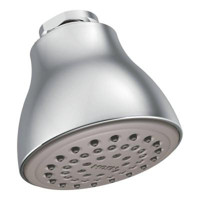 Easy Clean XL 1-Spray 2.5 in. Single Wall Mount Fixed Shower Head in Chrome