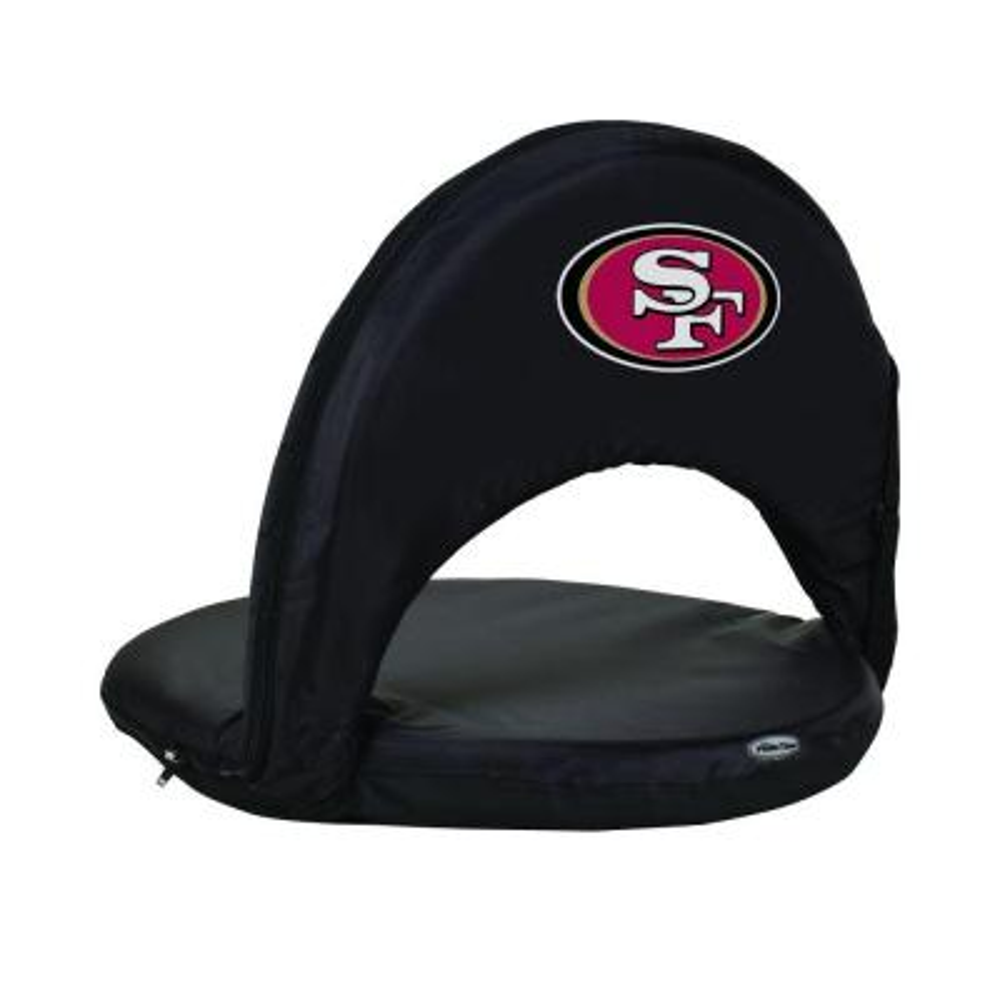 Oniva San Francisco 49ers Black Patio Sports Chair with Digital Logo