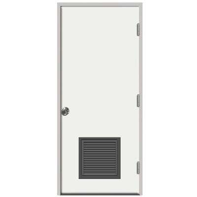Premium Vented Flush Primed Steel Prehung Front Door