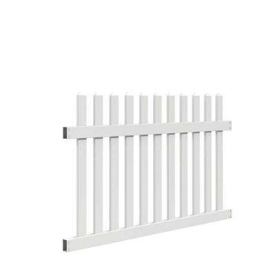 Seneca Straight 4 ft. H x 6 ft. W White Vinyl Fence Panel Kit