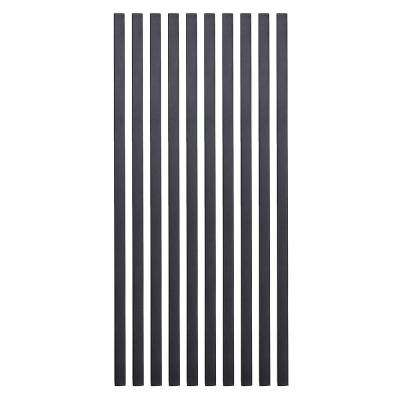 26 in. x 3/4 in. Black Pearl Matte Steel Square Baluster (10-Pack)