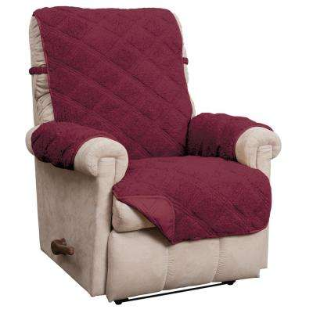 Hudson Burgundy Waterproof Recliner Furniture Cover