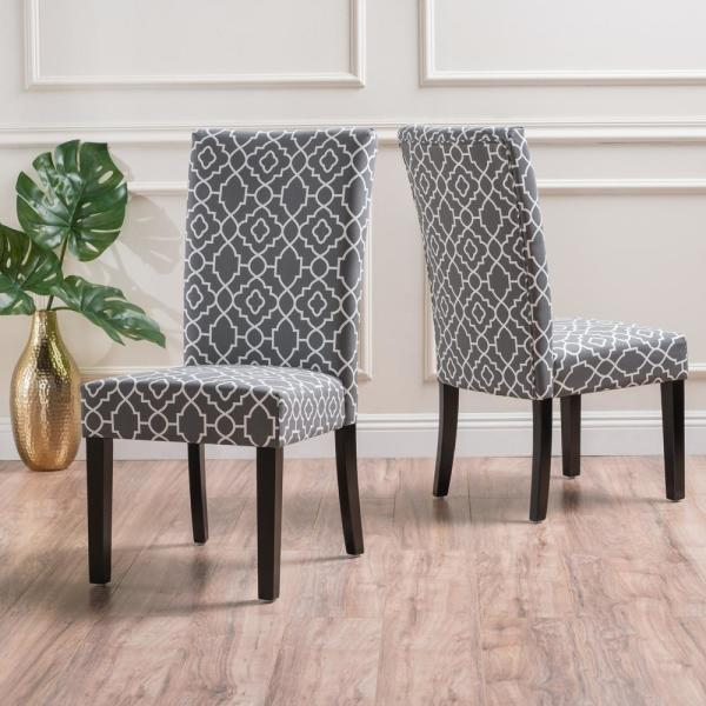 Jami Grey Fabric Dining Chair (Set of 2)
