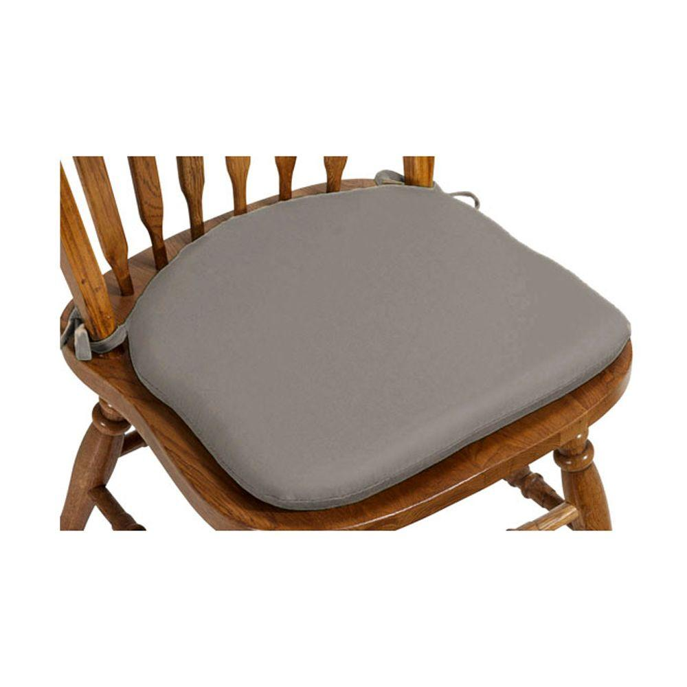 Home Decorators Collection Spectrum Graphite Sunbrella Contoured Outdoor Chair Cushion