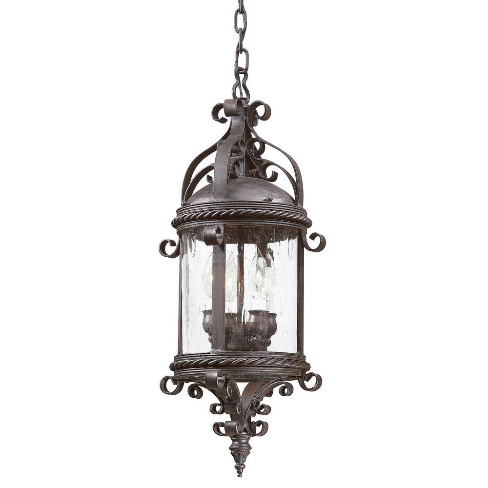 Pamplona 4-Light Old Bronze Outdoor Pendant