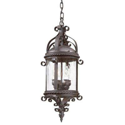 Pamplona 4-Light Old Bronze Outdoor Pendant