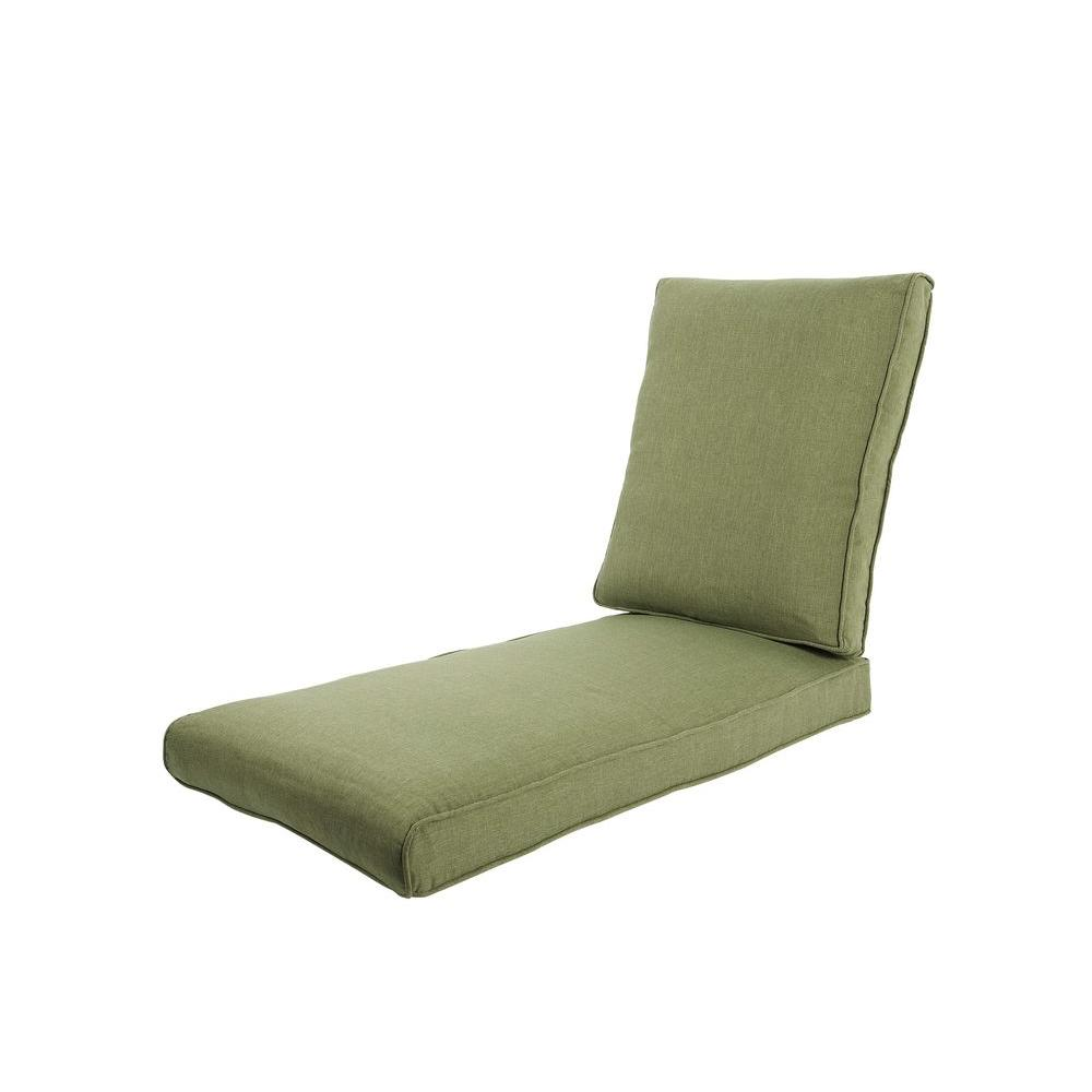 Hampton bay pembrey replacement outdoor chaise lounge for Chaise cushions clearance