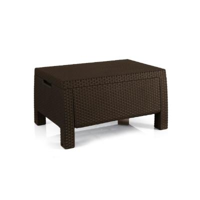 Bahamas Brown Resin Outdoor Storage Garden Patio Coffee Table