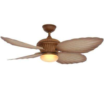 Tropicasa 54 in. Bahama Beige Indoor/Outdoor Ceiling Fan with Light Kit and Remote Control