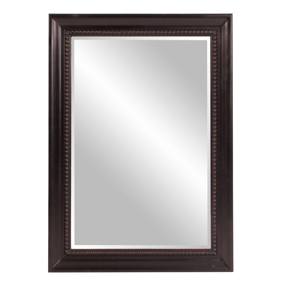 The Howard Elliott Collection 31 in. x 43 in. Rectangular Wood Framed Mirror