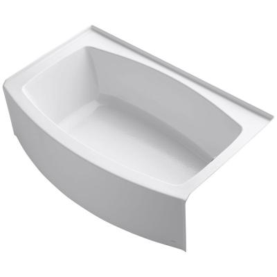 Expanse 5 ft. Acrylic Right-Hand Drain Curved Farmhouse Rectangular Apron Front Non-Whirlpool Bathtub in White