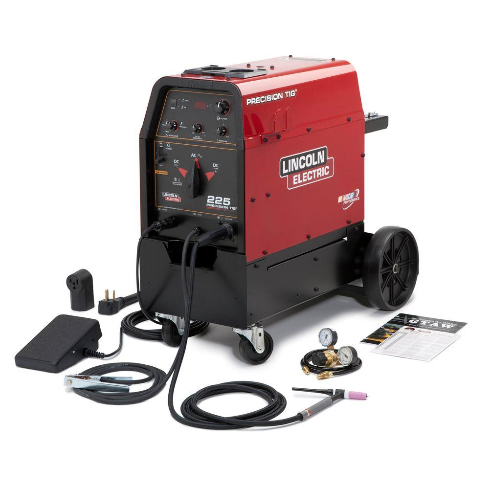 230 Amp Precision TIG 225 TIG Welder Ready-Pak w/Cart, Single Phase,