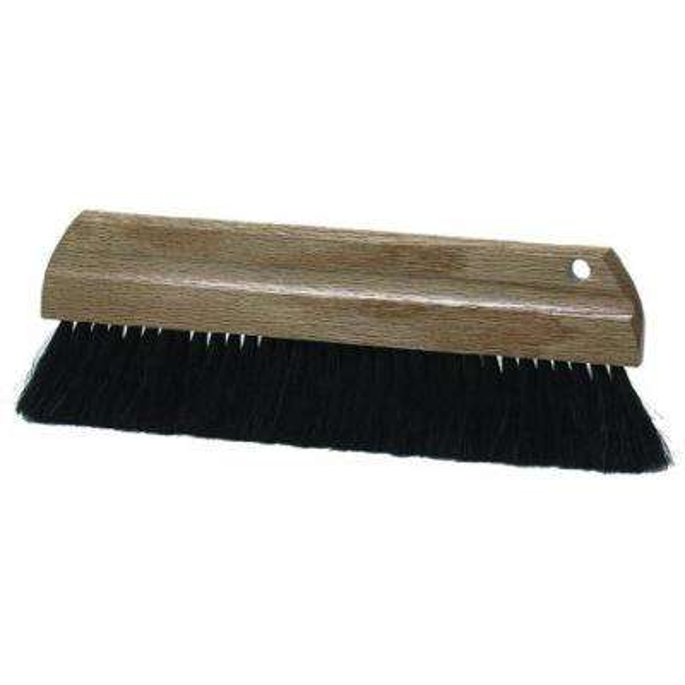 12 in. Natural Horsehair Curb Brush