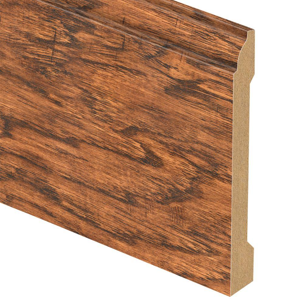 Zamma Cleburne Hickory 9/16 in. Thick x 5-1/4 in. Wide x 94 in. Length Laminate Base Molding
