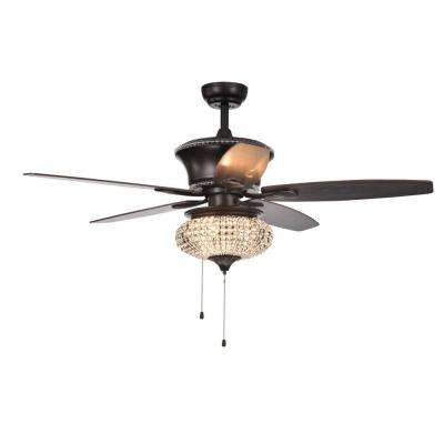 Vasilisa 52 in. Bronze Ceiling Fan with Light Kit
