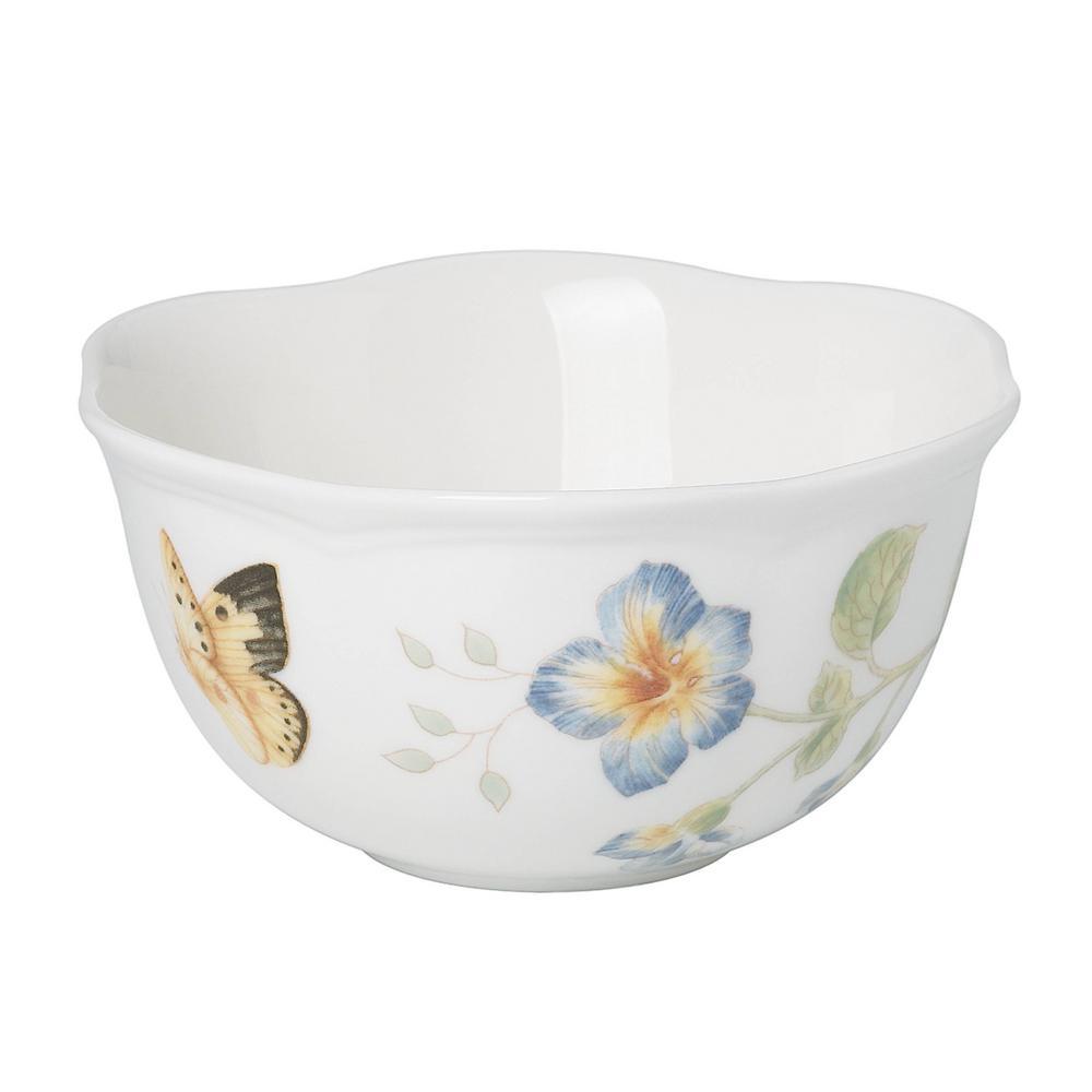 Butterfly Meadow 12 oz. Porcelain Multi Color Dessert Bowl