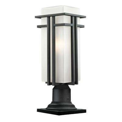 Lawrence 1-Light Outdoor Black Pier Mount Light