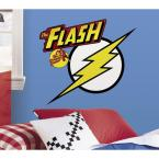5 in. x 19 in. Classic Flash Logo Peel and Stick Giant Wall Decals