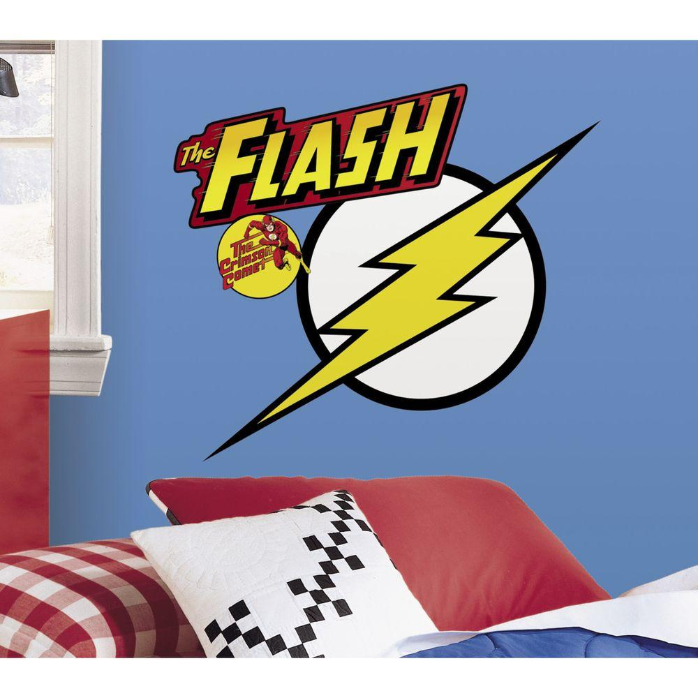 RoomMates 5 in. x 19 in. Classic Flash Logo Peel and Stick Giant Wall Decals